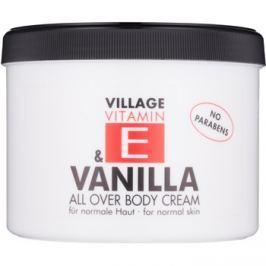 Village Vitamin E Vanilla testápoló krém parabénmentes  500 ml