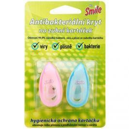 White Pearl Smile antibakteriális fedő fogkefére Pink & Blue 2 db
