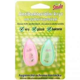 White Pearl Smile antibakteriális fedő fogkefére Pink & Green 2 db