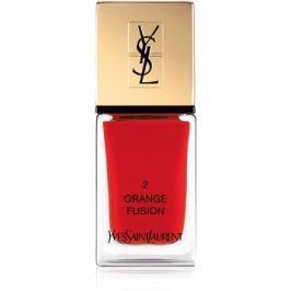 Yves Saint Laurent La Laque Couture körömlakk árnyalat 02 Orange Fusion 10 ml