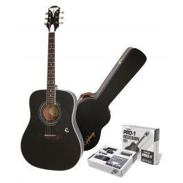 Epiphone PRO-1 Plus Acoustic Ebony SET