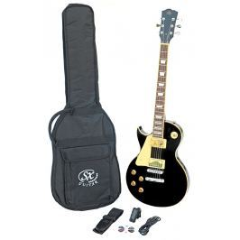 SX SE3 Left Handed Electric Guitar Kit Black