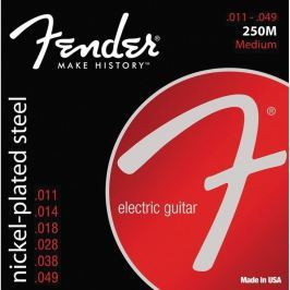 Fender 250M Nickel Plated Steel Electric Guitar Strings - Medium