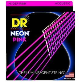 DR Strings HiDef Pink Neon Medium Acoustic
