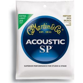 Martin MSP3600 SP 80/20 Bronze Strings, Extra Light 12 String