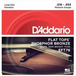 D'Addario EFT76 Flat Tops Mandola Strings Medium 16-53