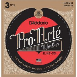 D'Addario EJ45 Pro-Arté Nylon Normal Tension (3 Pack)