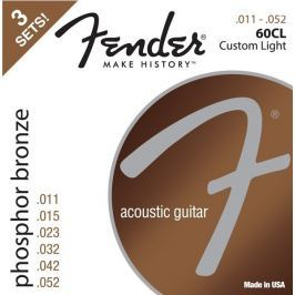 Fender 60CL Acoustic Phosphor Bronze 11-52 3 Pack