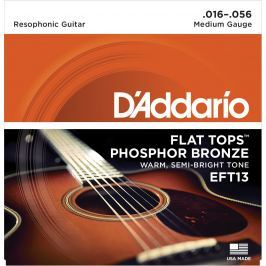 D'Addario EFT 13 Flat Tops Resophonic Strings