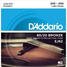 D'Addario Bronze Mandolin Strings 80/20 Light 10-34