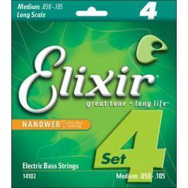 Elixir 14102 Bass NANOWEB Medium Long Scale