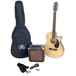 SX SA3 Electric Acoustic Kit Natural