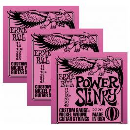 Ernie Ball 3220 Nickel Power Slinky Electric Guitar Strings 3-Pack