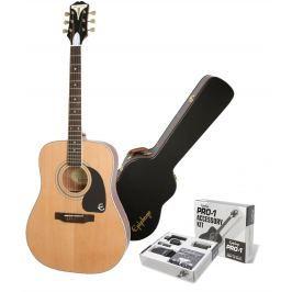 Epiphone PRO-1 Plus Acoustic Natural SET