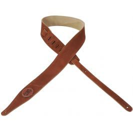 Levys MS217 Suede Leather Guitar Strap, Russet