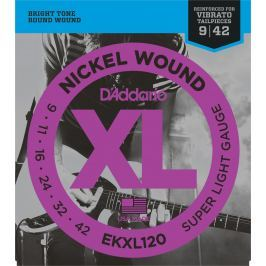D'Addario EKXL 120 nickel wound, super light tremolo, 9-42