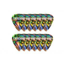 Boss BPK-12-AH Celluloid Pick Heavy Abalone 12 Pack