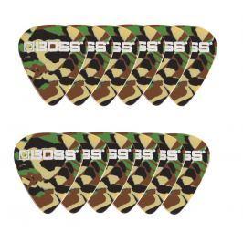 Boss BPK-12-CH Celluloid Pick Heavy Camo 12 Pack