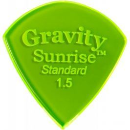 Gravity Picks GSUS15P Sunrise Standard 1.5mm Polished Fl. Green