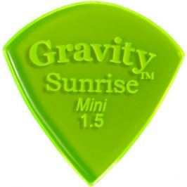 Gravity Picks GSUM15P Sunrise Mini 1.5mm Polished Fl. Green