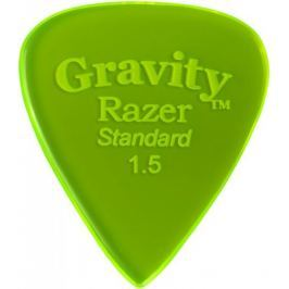 Gravity Picks GRAS15P Razer Standard 1.5mm Polished Fl. Green
