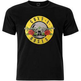 Rock Off Guns N Roses Circle Logo Fog Foil Mens Black T Shirt: M