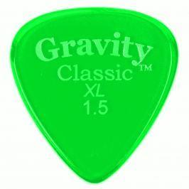 Gravity Picks GCLX15P Classic XL 1.5mm Polished Fluorescent Green