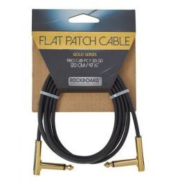 RockBoard Flat Patch Cable Gold 120 cm
