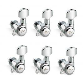 Schaller M6 135 Left locking 19,5 Nickel 6 pack