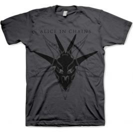 Rock Off Alice in Chains Black Skull Charcoal Mens T Shirt: S