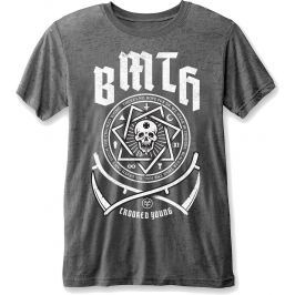 Rock Off BMTH Crooked Young Mens Burnout Charcoal T Shirt: XL