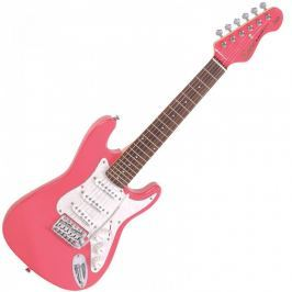 Encore E375PK 3/4 Electric Guitar Gloss Pink
