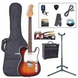 Encore EBP-E2SB Electric Guitar Outfit Sunburst
