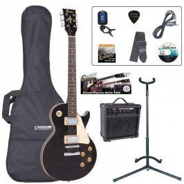 Encore EBP-E99BLK Electric Guitar Outfit Gloss Black