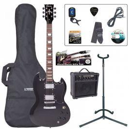 Encore EBP-E69BLK Electric Guitar Outfit Gloss Black