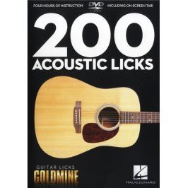 Hal Leonard 200 Acoustic Licks - Guitar Licks Goldmine