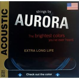 Aurora Premium Acoustic Guitar Strings Light 13-56 Black
