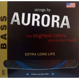 Aurora Premium Medium Bass Strings 45-105 Blue
