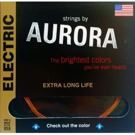 Aurora Premium Electric Guitar Strings Extra Heavy 12-52 Red