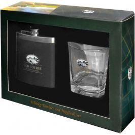 JS Int St Andrews Whisky Tumbler + Hipflask Set