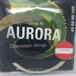 Aurora Invisible Chameleon Bass Strings 45-125 Blue