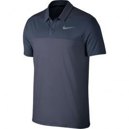 Nike Mens Dry Polo Color Light Carbon/Thunder Blue/Black L