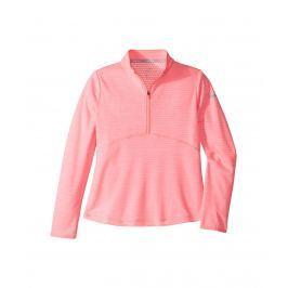 Nike Girls Dry Long Sleeve Top Sunset Pulse/Flt Silver S