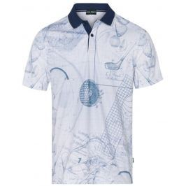 Golfino Mens Printed Polo With Striped Collar 550 56
