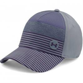 Under Armour Men's Golf Striped Out Cap Steel/Gooseberry Purple L/XL