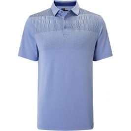 Callaway Jaquared Print Polo Chambray M Mens