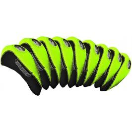Longridge Eze Iron Covers 10Pcs Black/Lime