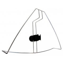 Lalizas Stainless Steel Horseshoe Bracket with base for lifebuoy light