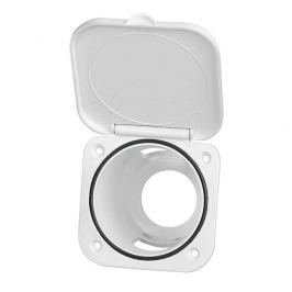 Nuova Rade Case for Shower Head, Square, w/Lid, 95x95mm, White