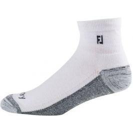Footjoy ProDry Quarter White Socks Mens